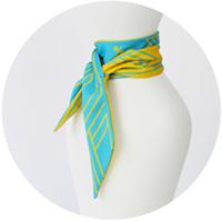 % COOL SCARF STRIPE Bright blue 50% Yellow 50%