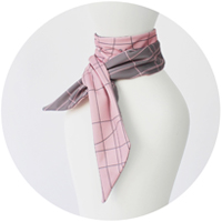 % COOL SCARF CROSS Pink 50% Gray 50%