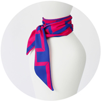 % COOL SCARF CONNECT Bright Pink 50% Navy 50%